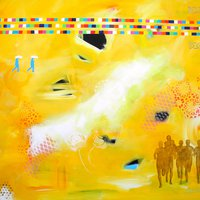 6 løbere i gult