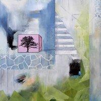 Træ i lyserød kasse